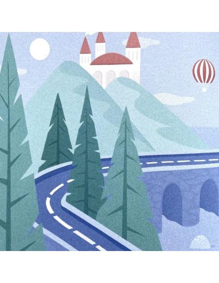 Livre une etoile sur la route ouvert illustration chateau et route